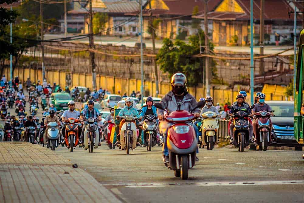 Motorcycles in Ho Chi Minh City, Vietnam