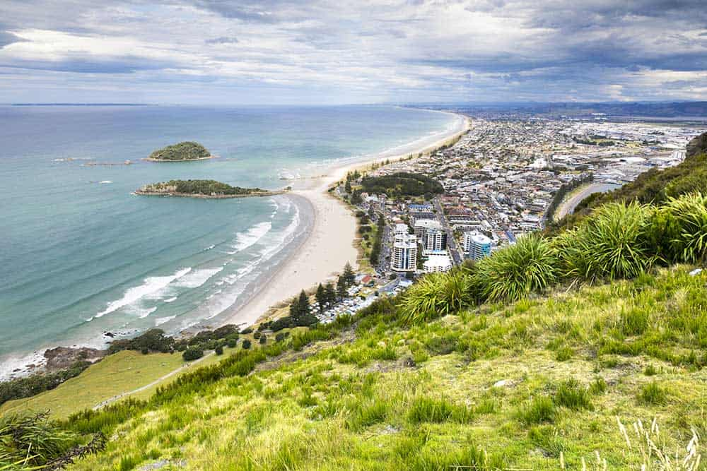 Bay of Plenty from Mount Maunganui