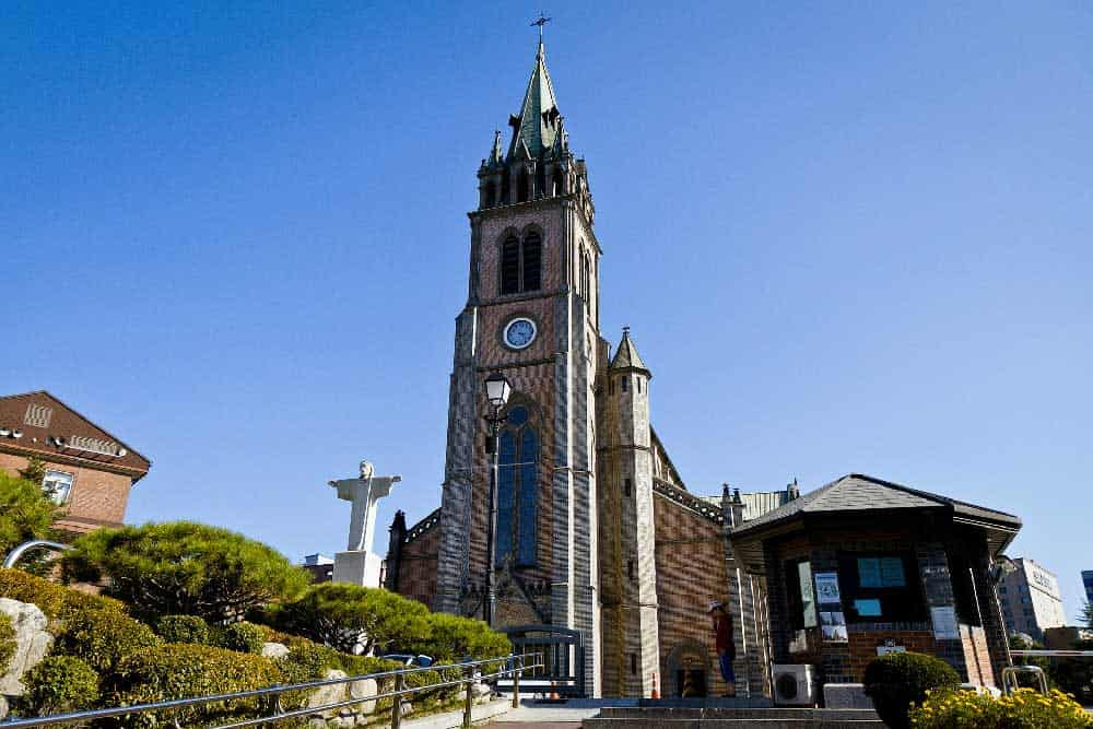 Myeongdong Cathedral in Seoul, Korea