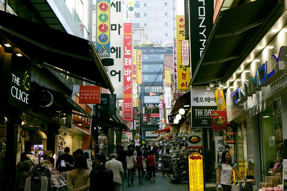 Myeongdong in Seoul, Korea