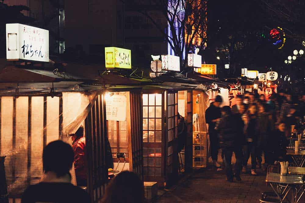 Food Stalls in Nakasu