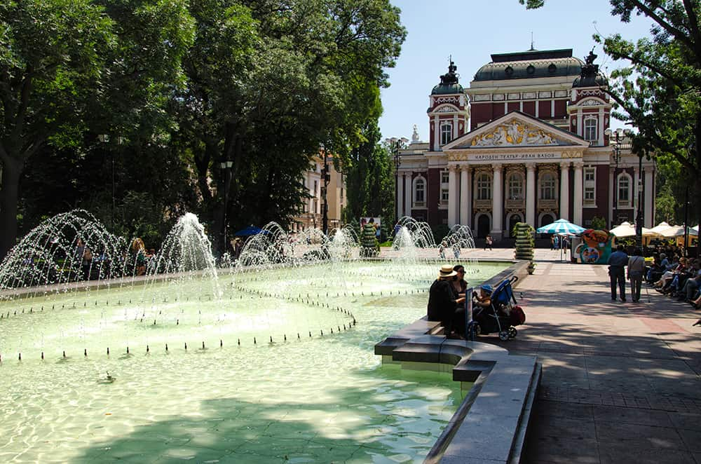 National Theatre Ivan Vazov in Sofia, Bulgaria