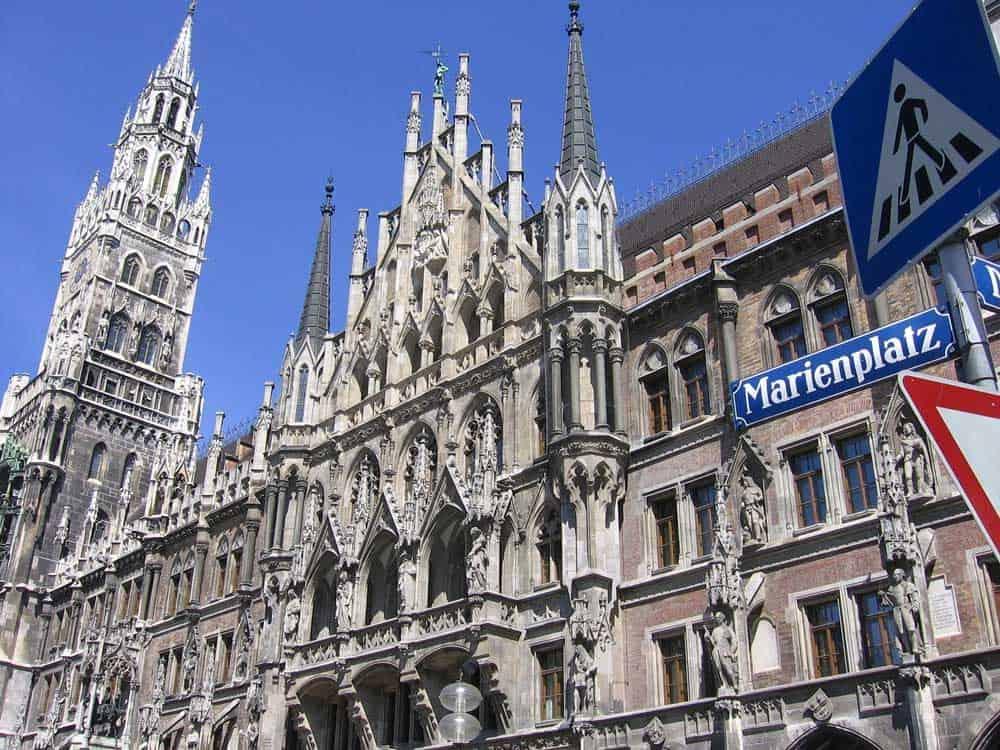 New Town Hall on Marienplatz in Munich, Germany