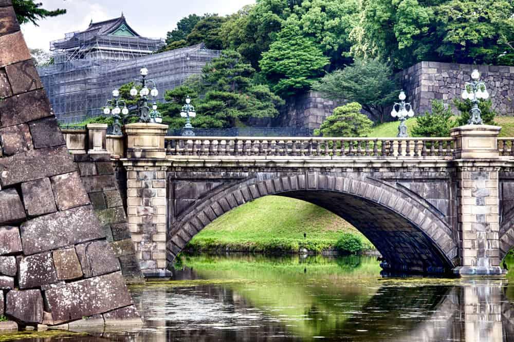 Nijubashi at Tokyo Imperial Palace in Tokyo, Japan