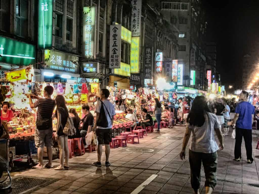 Ningxia Night Market in Taipei, Taiwan