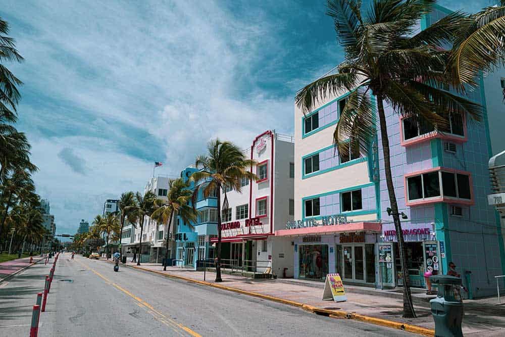 Ocean Drive in Art Deco Historic District