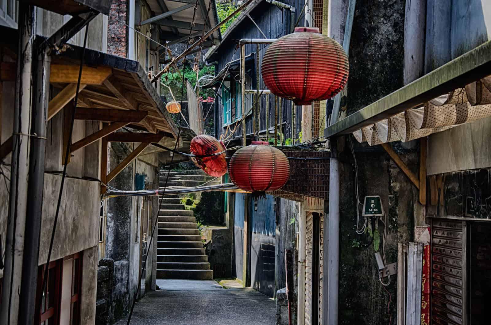 Old Alleyway in Jinguashi, Taiwan