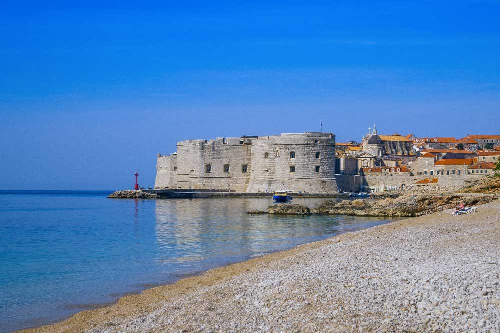 Beach in Old Town Dubrovnik, Croatia