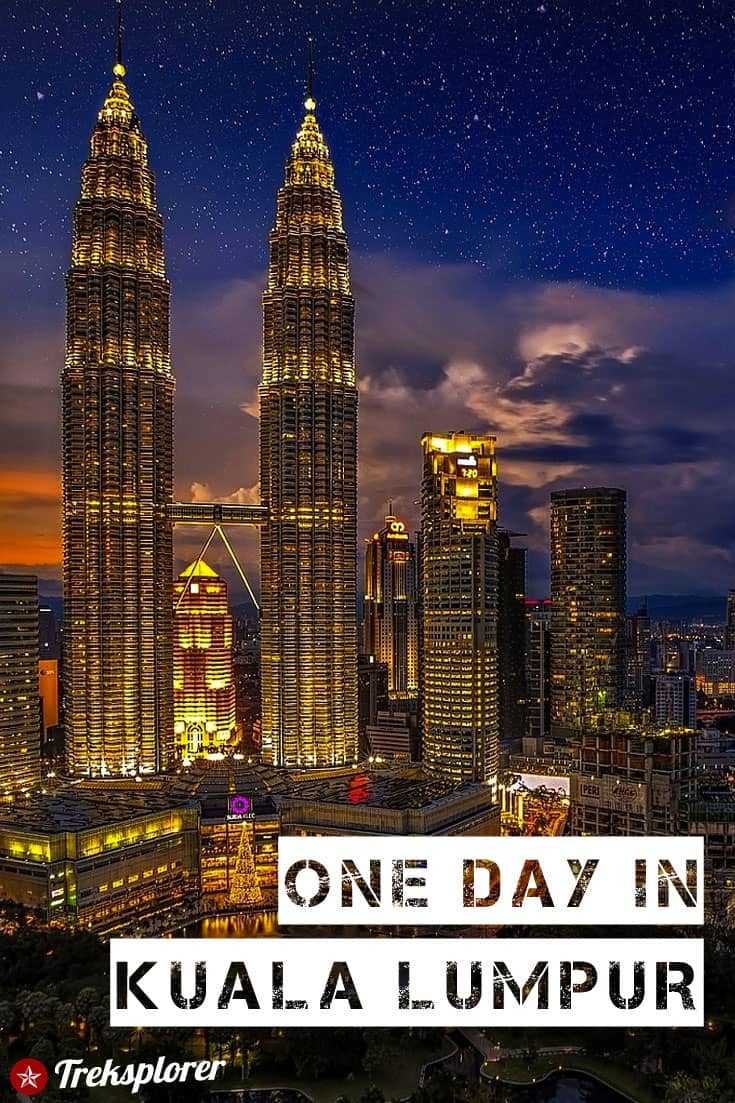 Only got one day in Kuala Lumpur? Kick-start your trip with this complete 1-day itinerary for 24 hours in Kuala Lumpur! Includes suggestions for what to do, what to eat and where to stay. #kualalumpur #kl #malaysia #travel #itinerary
