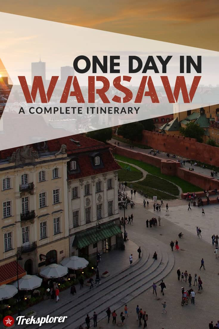 Only got one day in Warsaw, Poland? Kick-start your trip with this complete 1-day itinerary for 24 hours in Warsaw! Includes suggestions for what to do, what to eat and where to stay. #warsaw #poland #europe #travel #itinerary