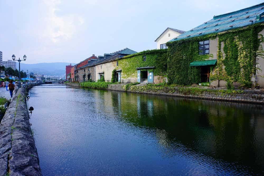 Otaru Canal in Otaru, Hokkaido, Japan