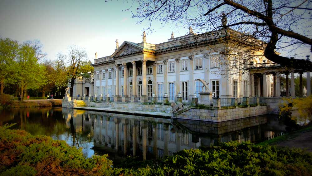 Palace on the Isle at Lazienki Park in Warsaw, Poland