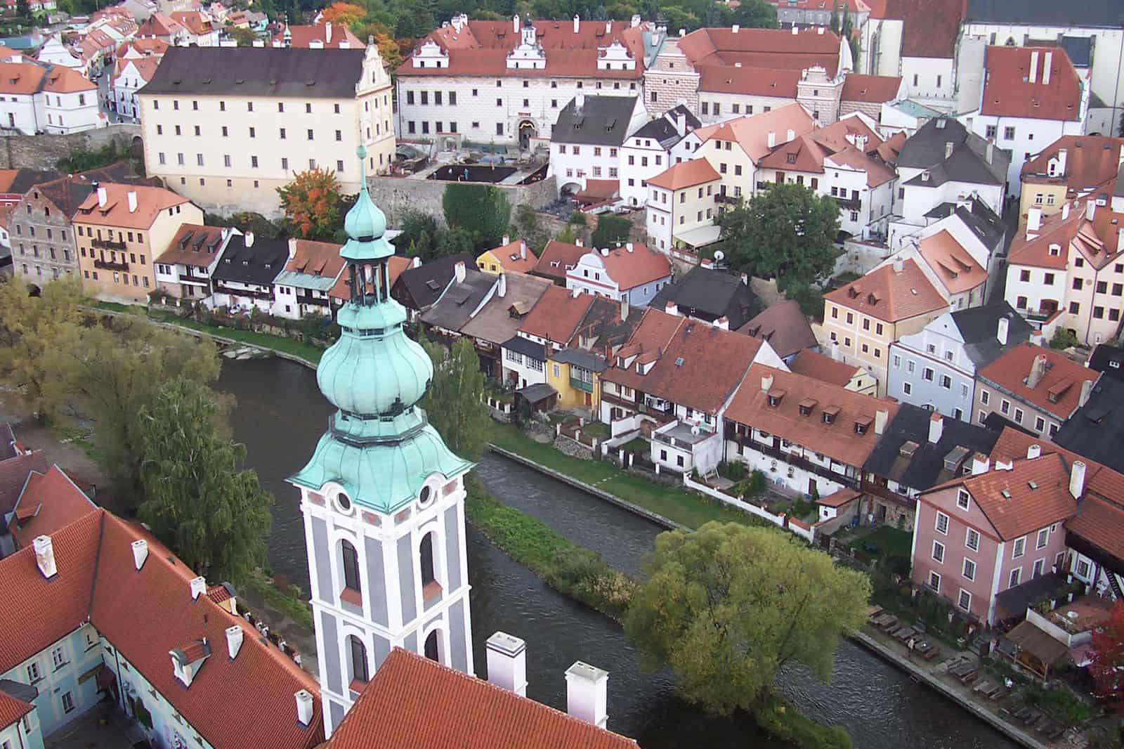 Panorama of Cesky Krumlov, Czech Republic