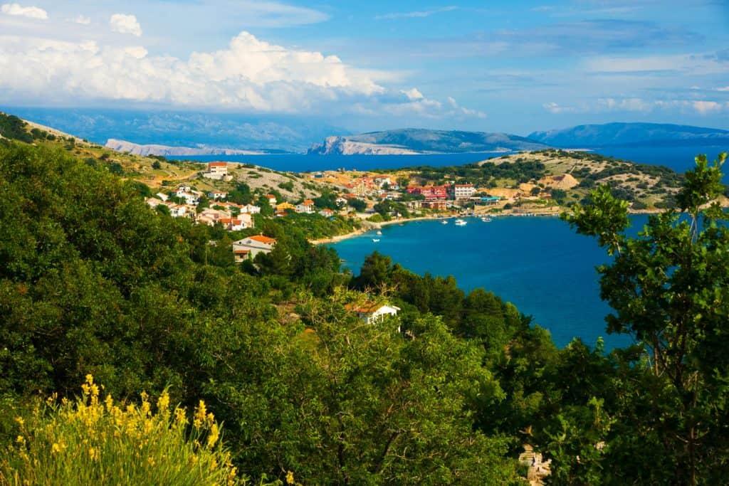 Panorama of Krk Island, Croatia