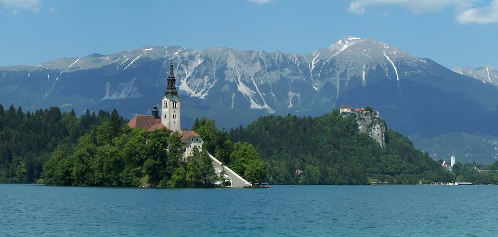 Panorama of Lake Bled, Slovenia