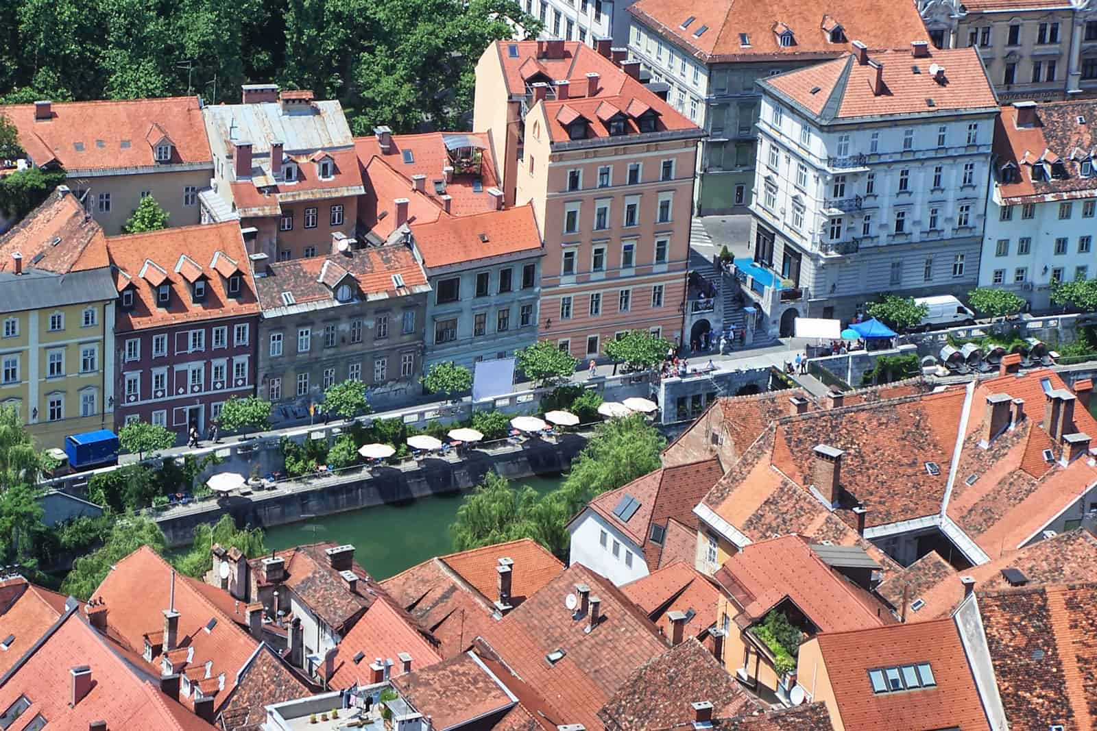 Panorama of Old Town, Ljubljana, Slovenia