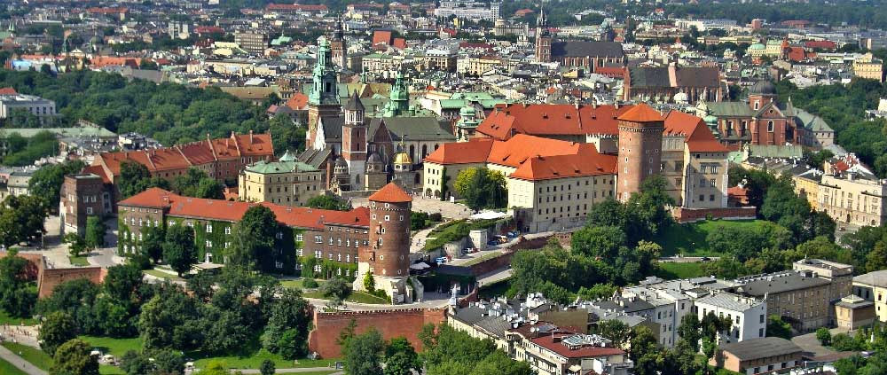 Panorama of Wawel Castle in Krakow