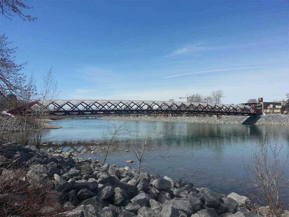 Peace Bridge over Bow River