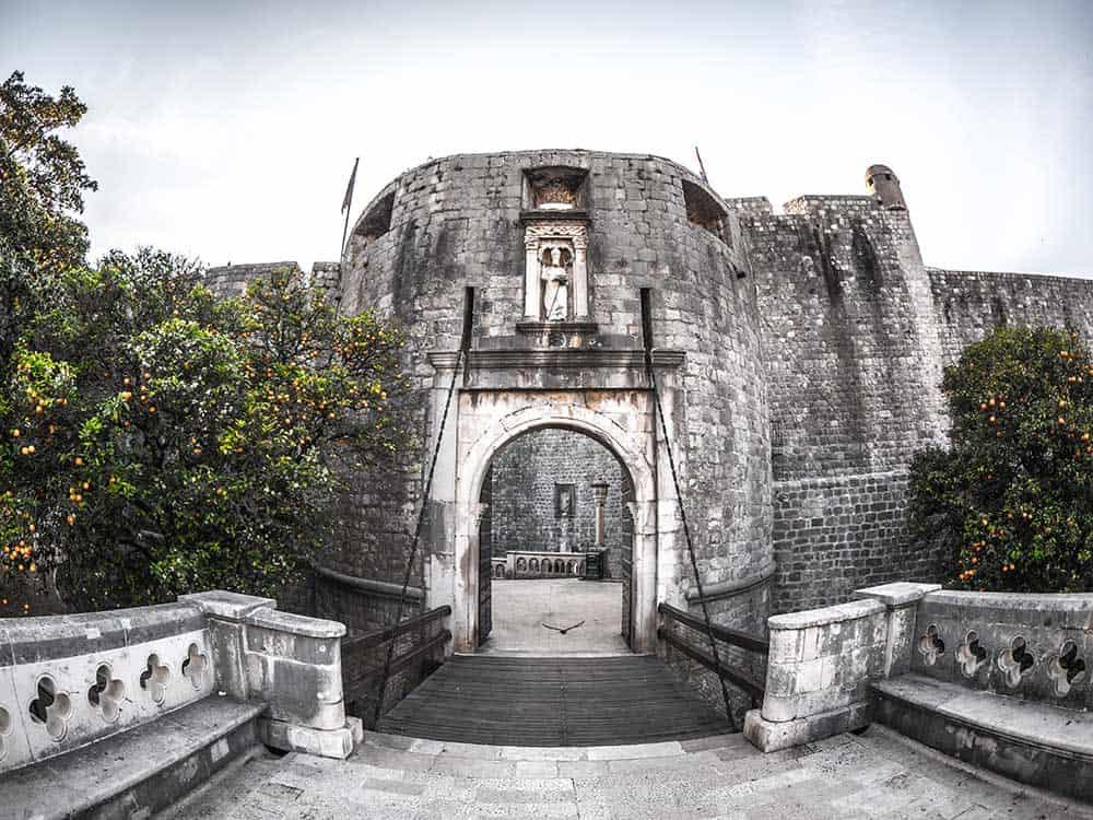 Pile Gates in Dubrovnik