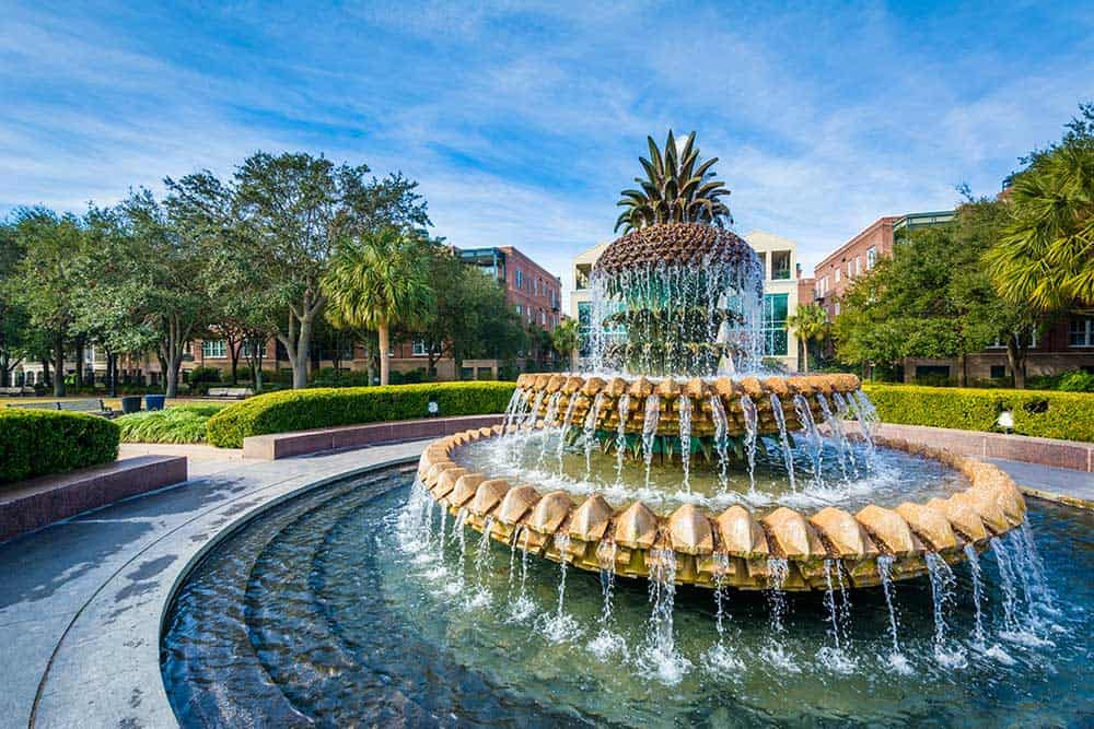 Pineapple Fountain at Ravenel Waterfront Park
