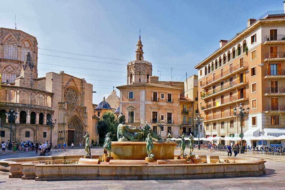 Plaza de la Virgen in Ciutat Vella Old Town