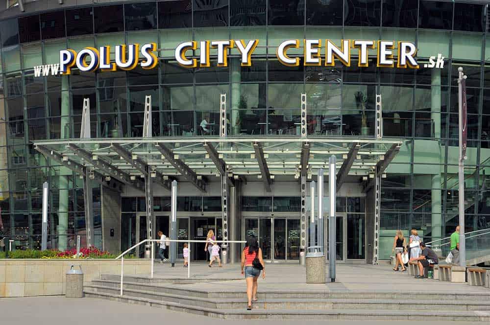 Polus City Center in Nove Mesto (New Town)