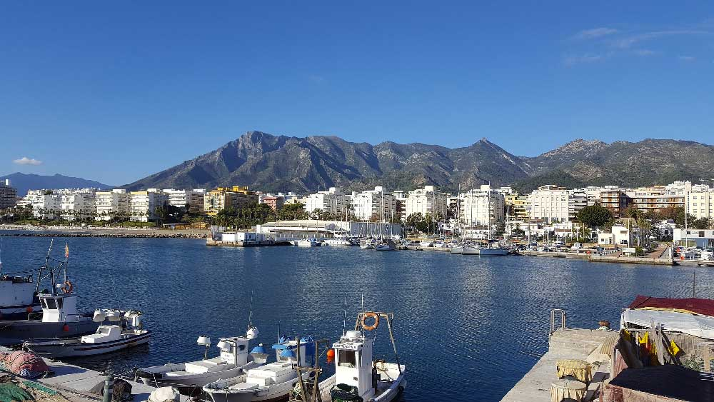 Port in Marbella, Spain