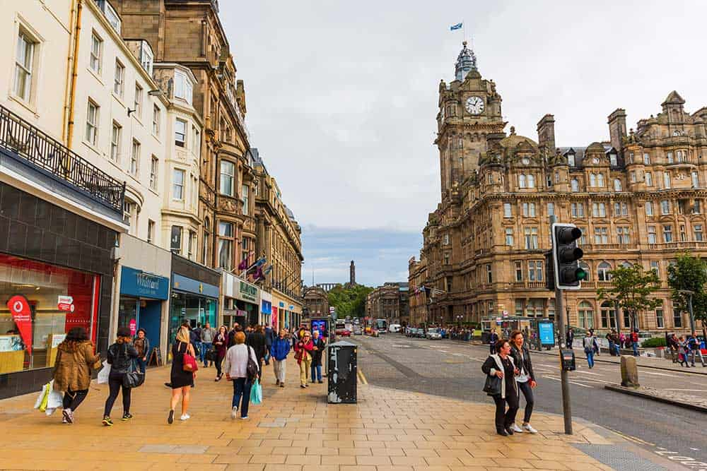 Princes Street in New Town