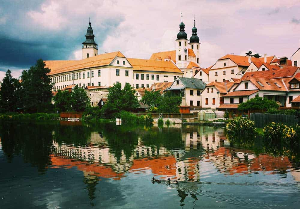 Reflection in Telc, Czech Republic