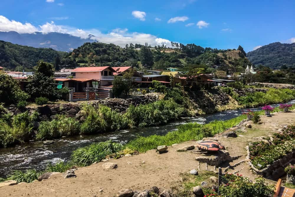 View of Town and River in Boquete, Panama