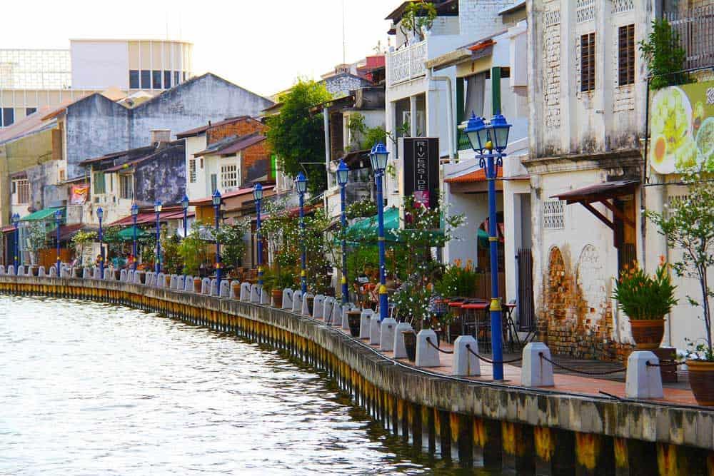 River in Melaka, Malaysia