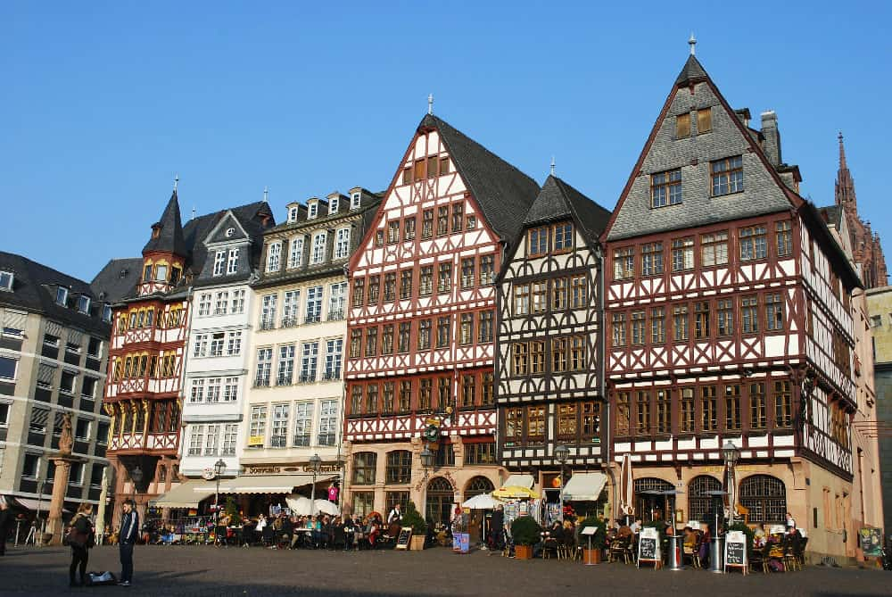 Romerberg in Frankfurt, Germany