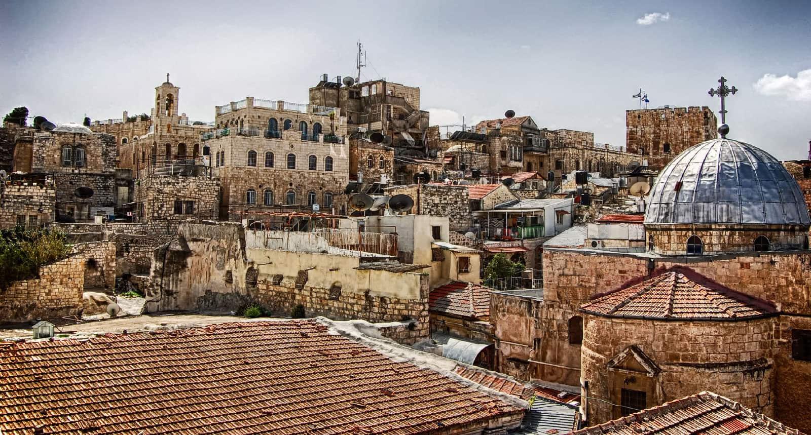 Rooftops from near Jaffa Gate, Jerusalem, Israel