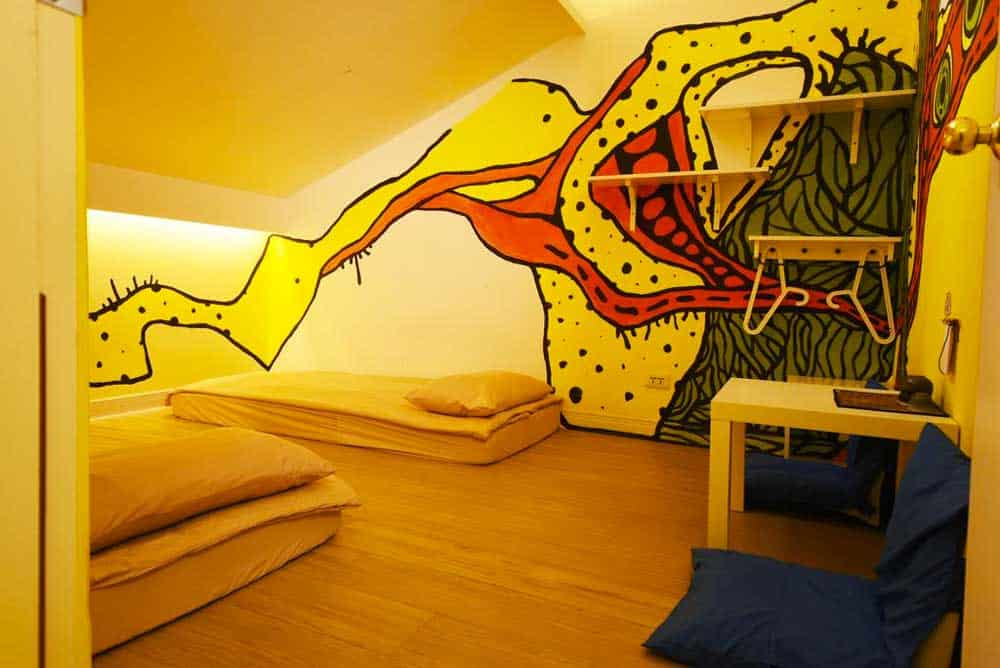 Room at Flip Flop Hostel Main Station in Taipei, Taiwan