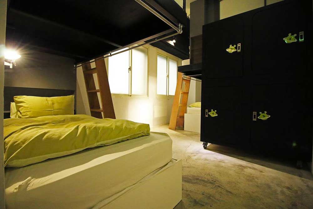 Room at NiHao Taipei Hostel in Taipei, Taiwan