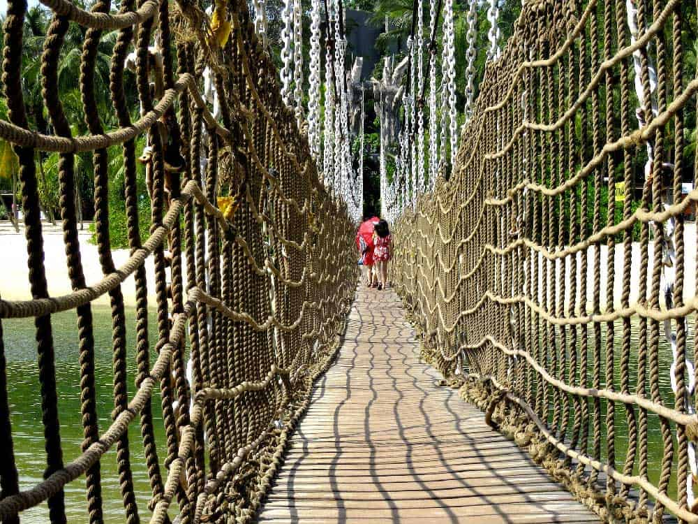 Rope Bridge @ Sentosa Beach in Singapore