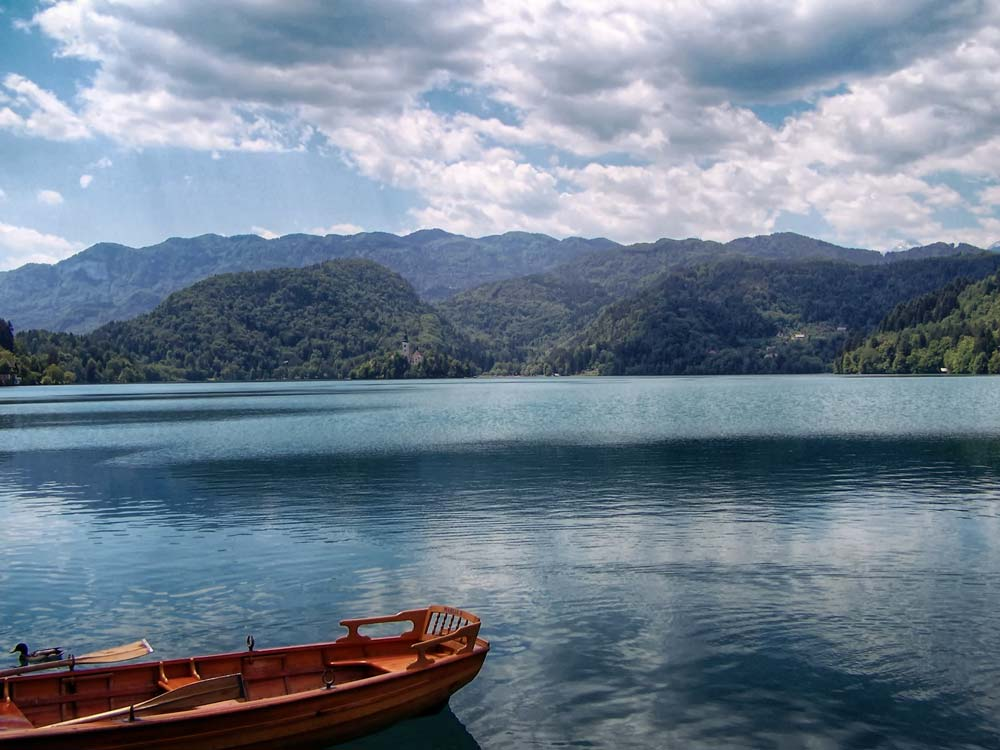 Row Boat on Lake Bled, Slovenia