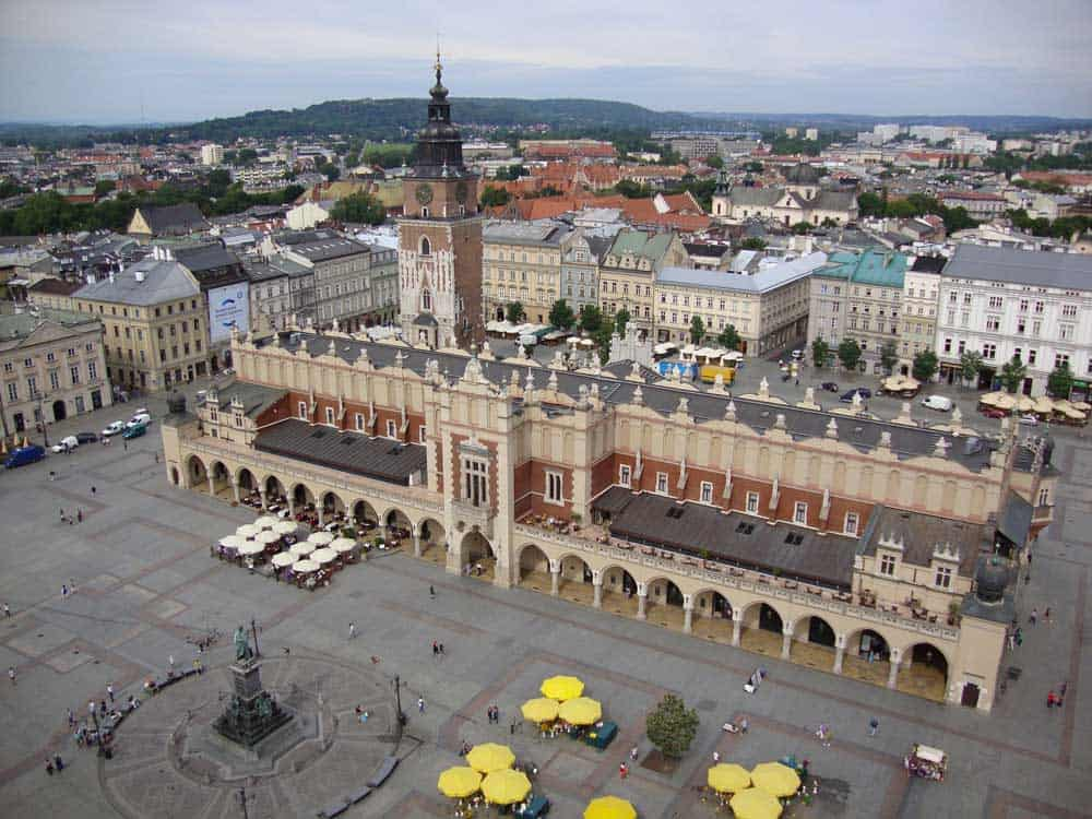 Rynek Glowny (Main Market Square) in Krakow
