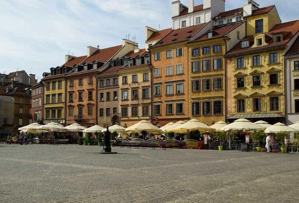 Rynek Starego Miasta in Old Town, Warsaw, Poland