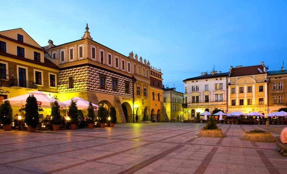 Rynek in Tarnow, Poland