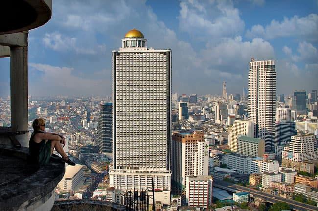 Sabrina on Abandoned Building in Bangkok, Thailand