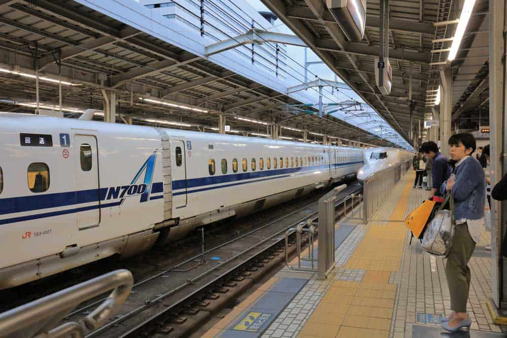 Shinkansen at Shin-Osaka Station