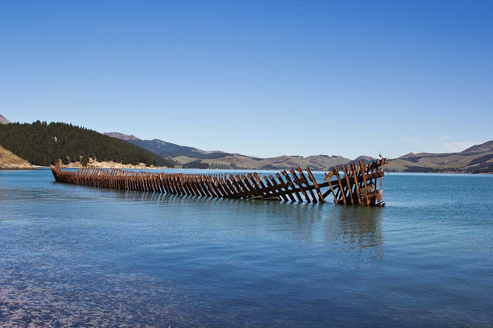 Shipwreck on Quail Island
