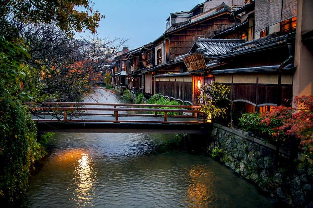 Shirakawa in Gion District, Kyoto, Japan