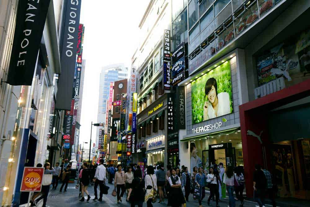 Shopping in Myeongdong, Seoul, Korea