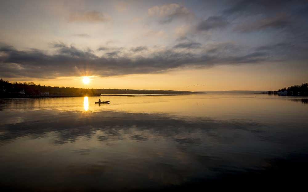 Skaneateles Lake in Finger Lakes, New York