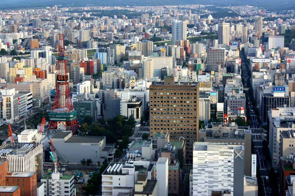 Skyline in Sapporo, Japan