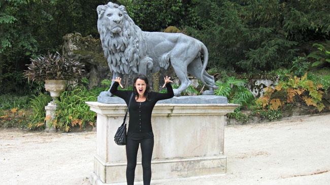 Sofie doing her best lion impression!