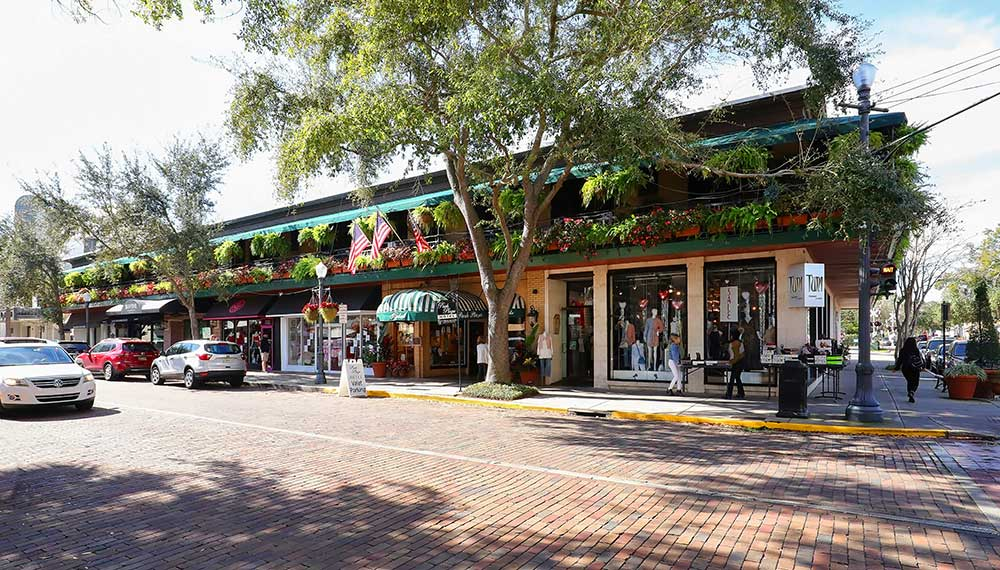 South Park Avenue in Downtown Winter Park