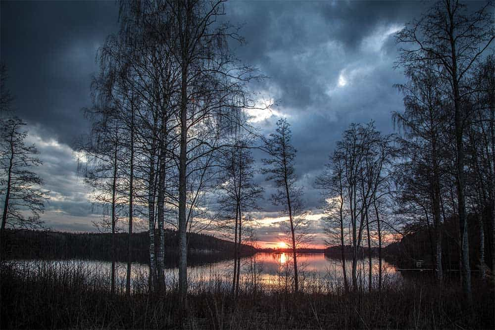 Lake in Finland in Spring